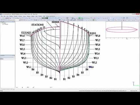 PART 2 Creating Hull Form from LinesPLan using Maxsurf ship design software