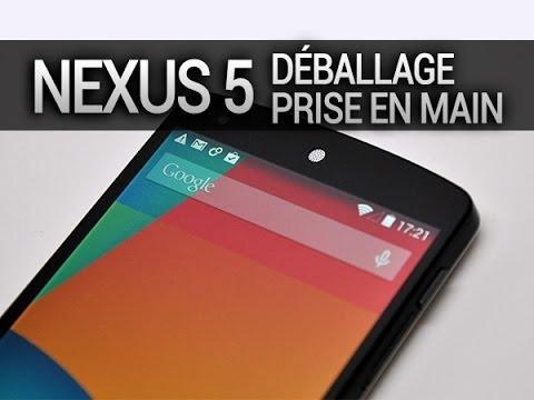 Nexus 5, déballage et prise en main - par Test-Mobile.fr