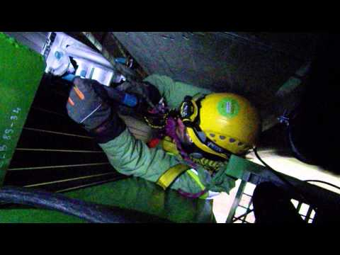 Rope Access Jobs done by IRATA certified technicians at Skyproff