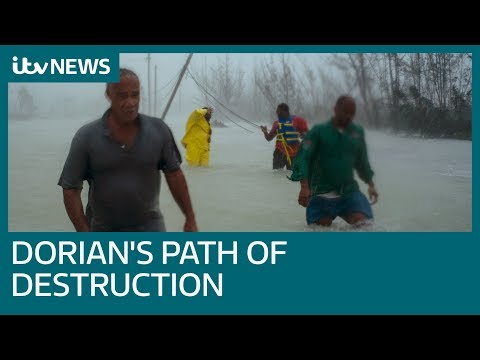 Deadly Hurricane Dorian continues path after pounding Bahamas | ITV News
