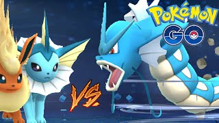 Pokemon Go - GYARADOS Vs VAPOREON EPIC GYM Battle Legendary Pokemon Go Gameplay!