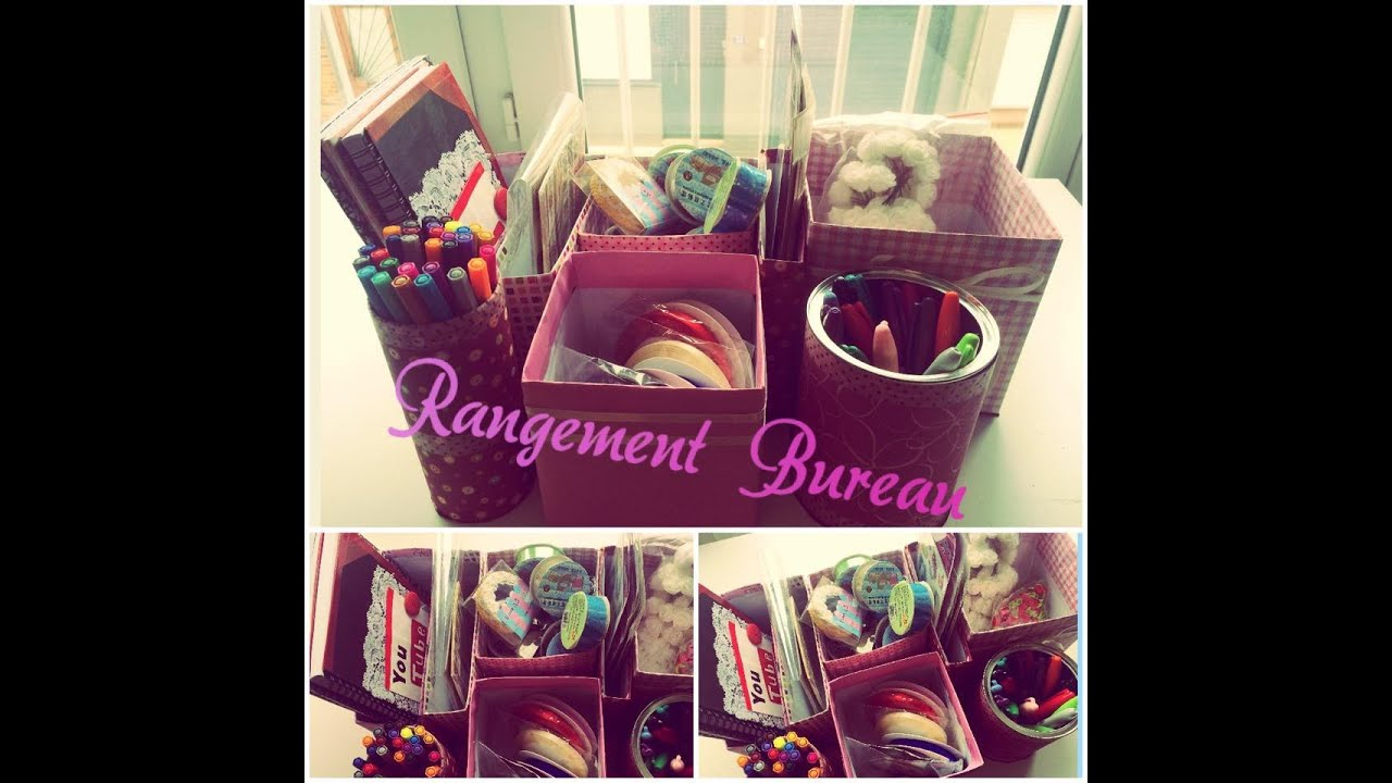 diy rangement bureau back to school youtube. Black Bedroom Furniture Sets. Home Design Ideas