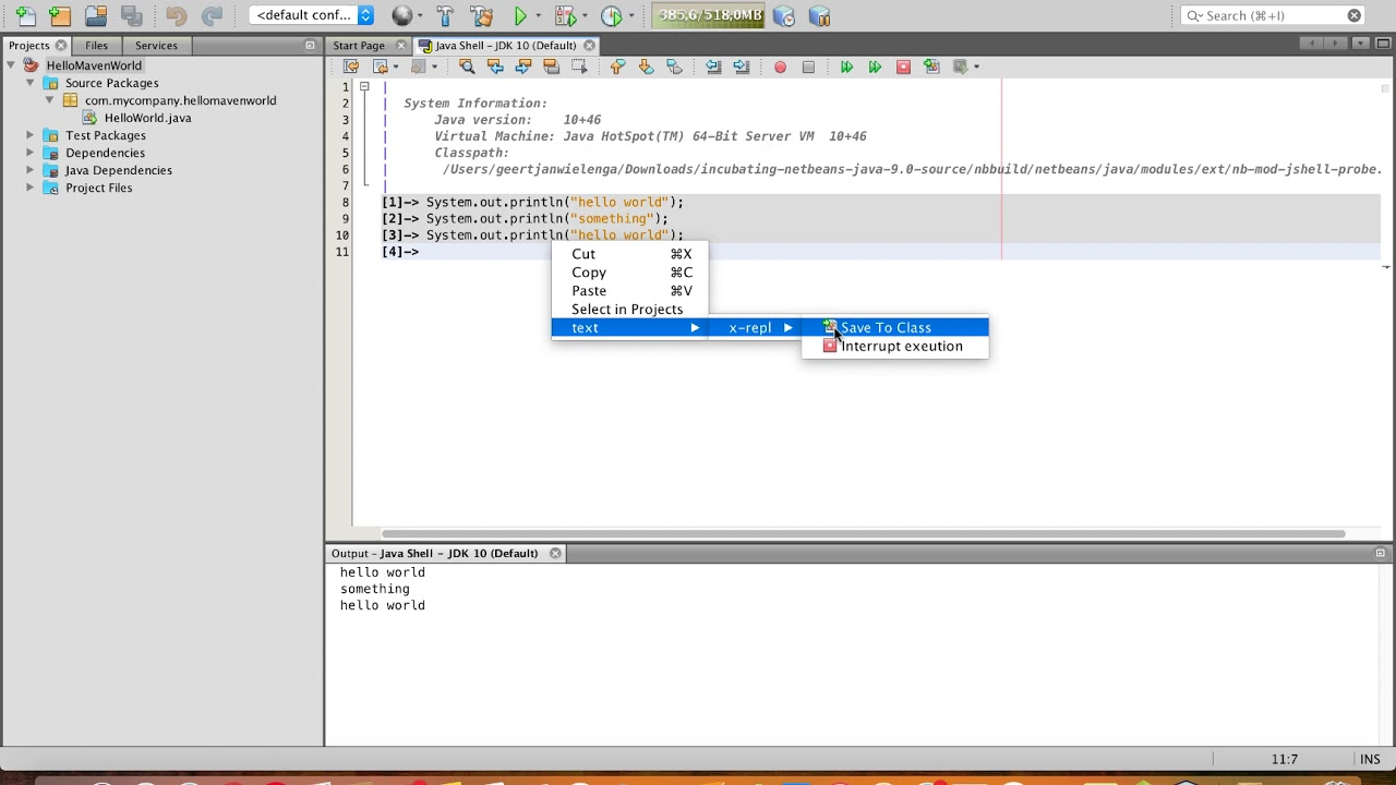 Setting Up JDK 9 Java Shell Support in Apache NetBeans
