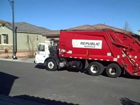 Republic Services Of Southern Nevada Employees Deliver New Recycling And Trash Bins To Summerlin Residents On