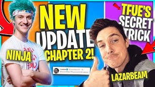 Tfue, Ninja Expose *FAST Travel* and Easy ELIMS.. Lazarbeam and Pros LOVE Chapter 2
