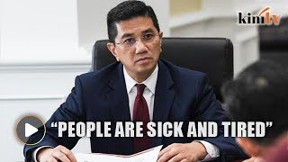 Azmin: People are sick and tired of politics