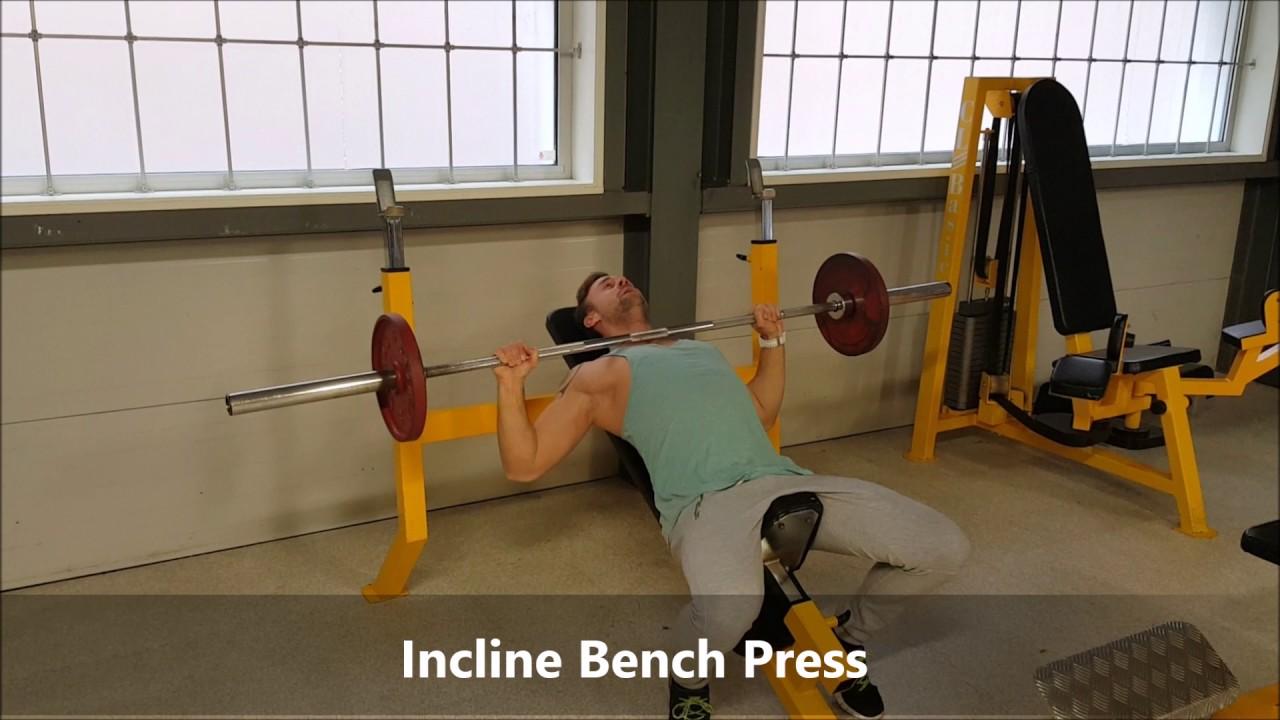 Betere Hoe doe je de Incline Bench Press - YouTube PG-39