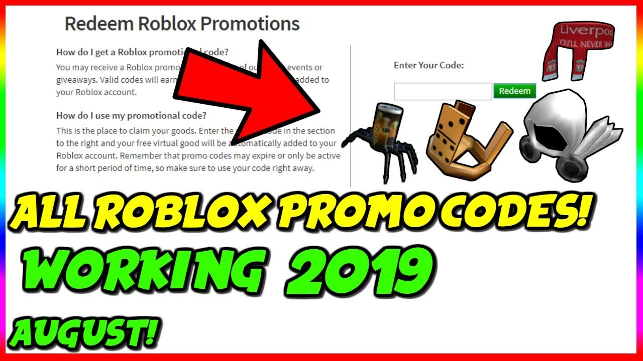 Roblox Working Promo Codes June 2019 All Working Roblox Promo Codes August 2019 Youtube