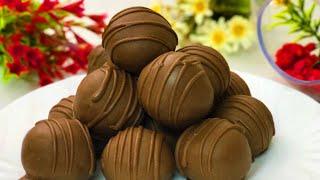 كرات الشوكولاتة اللذيذة ب 3 مكونات فقط وفي 10 دقائق رووعة