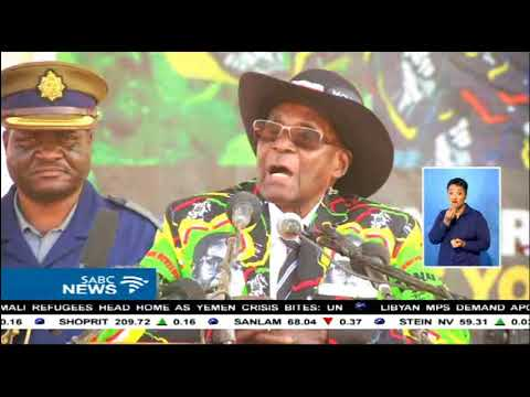 Zimbabwe's Emmerson Mnangagwa accused of undermining Mugabe