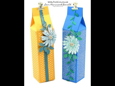 Tall Pretty Milk Carton with Stampin' Up!  Daisy Delight - วันที่ 10 Oct 2018