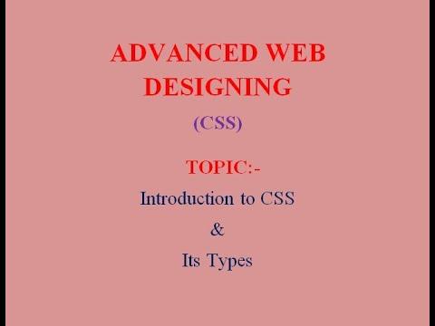 ADVANCED WEB DESIGNING (CSS)
