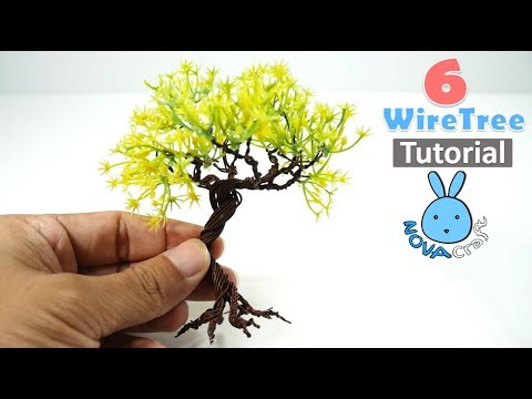 6 DIY Wire Tree Tutorial Detail subtitle Pine tree Coconut tree mini tree Forest tree For Doll House