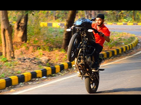 Pulsar 220 2017 Power wheelie &Stunts
