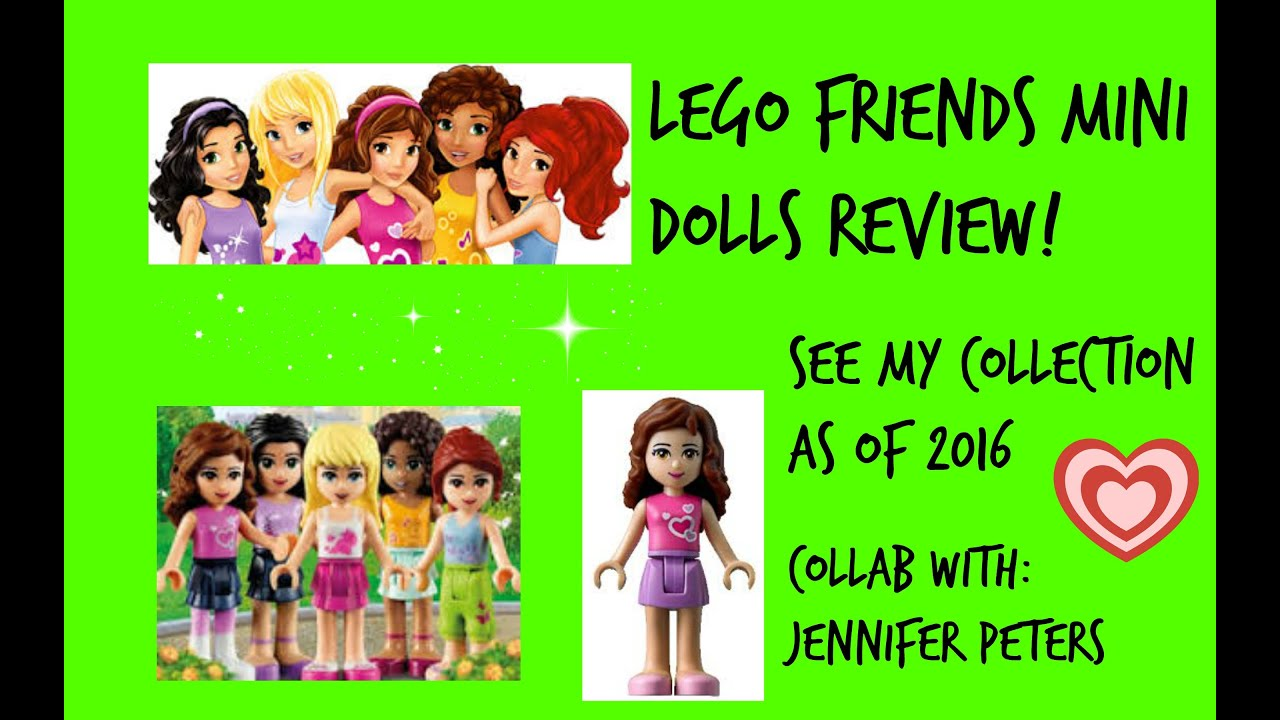 Lego Friends Mini Dolls Reviews Collection Youtube