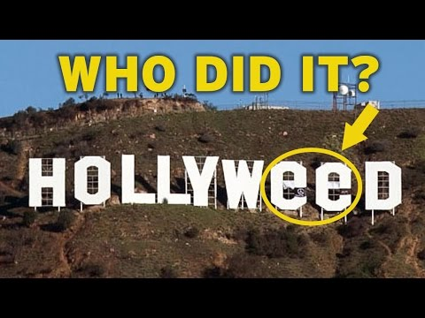 Who Changed the Hollywood Sign to Hollyweed?