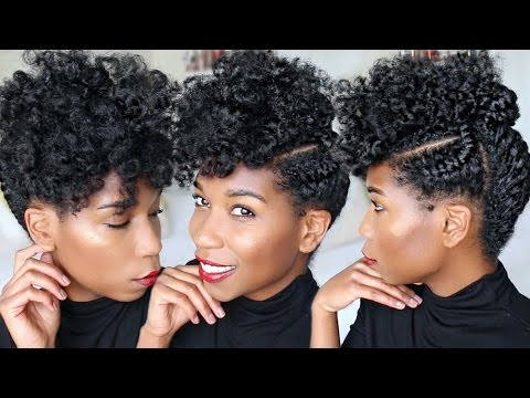 QUICK Holiday + Corporate Updo | Fluffy Natural Hairstyle