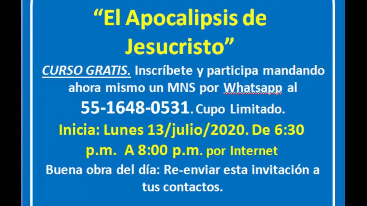 INVITACION AL CURSO EL APOCALIPSIS