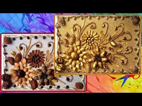Цветы из природных материалов своими руками фото
