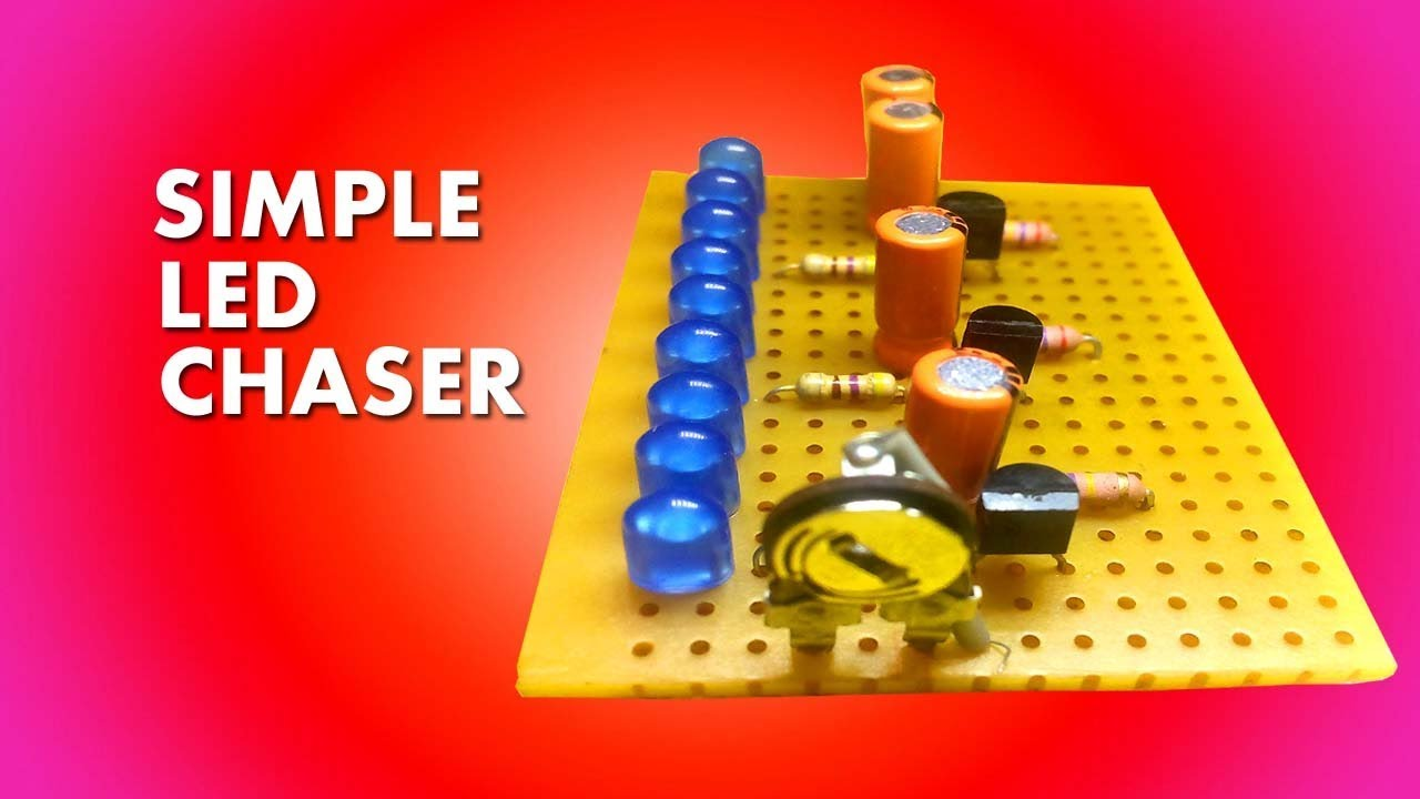 Simple Led Chaser Circuit Diagram Trusted Wiring Diagrams Schema Pinterest On 3 Using Transistor Youtube Schematic