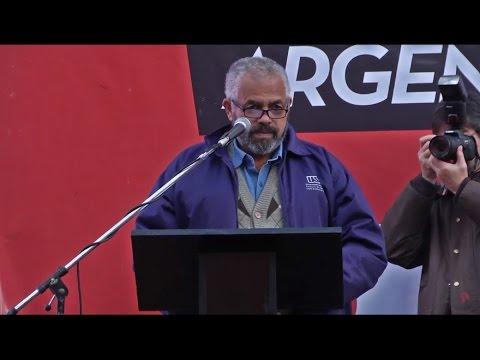 Claudionor Brandão, MRT Brasil / discurso en acto contra el golpe en Brasil y el ajuste de Macri