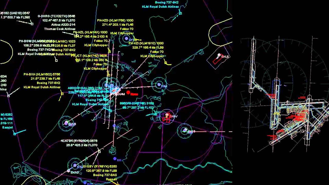 Live Air Traffic Control Schiphol Airport Amsterdam EHAM 5 Jan 2013