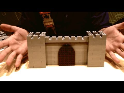How To Build A Lego Castle Wall Interlocking Technique Youtube