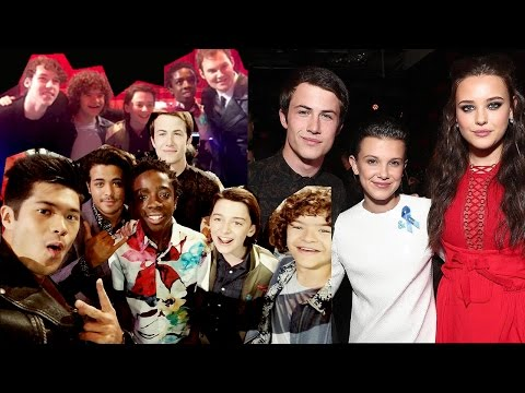 13 Reasons Why Cast mentioning and meeting Stranger Things Cast!