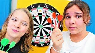 Dart challenge. Komik challange türkçe. Sema ve Arseny ile eğlenceli video