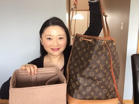 Louis Vuitton Noe | What can fit with or without an organizer comparison