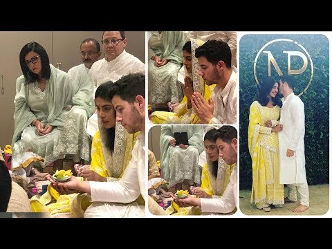 LIVE Priyanka Chopra & Nick Jonas WEDDING Engagement Ceremony Indian Style Inside House In Mumbai