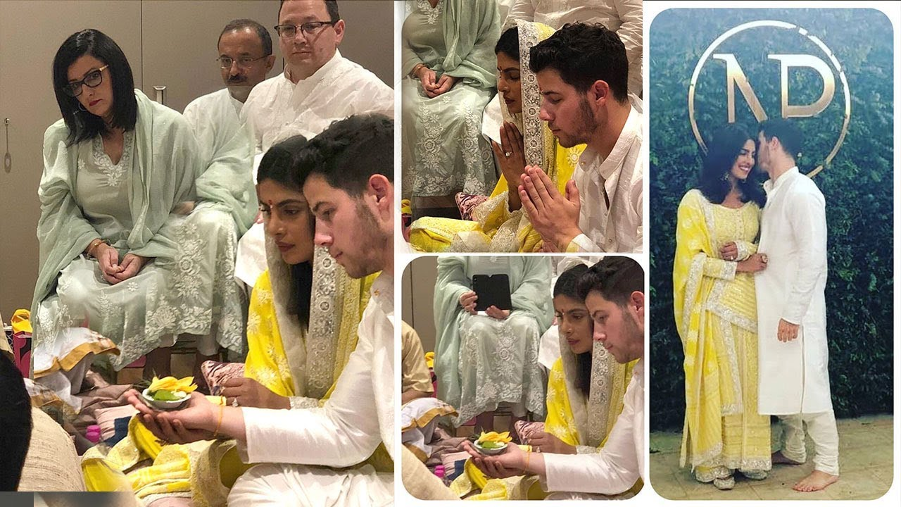 Live Priyanka Chopra Nick Jonas Wedding Engagement Ceremony Indian