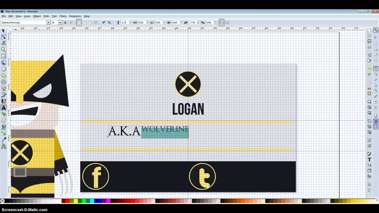 Inkscape Business Card Design - Wolverine - YouTube