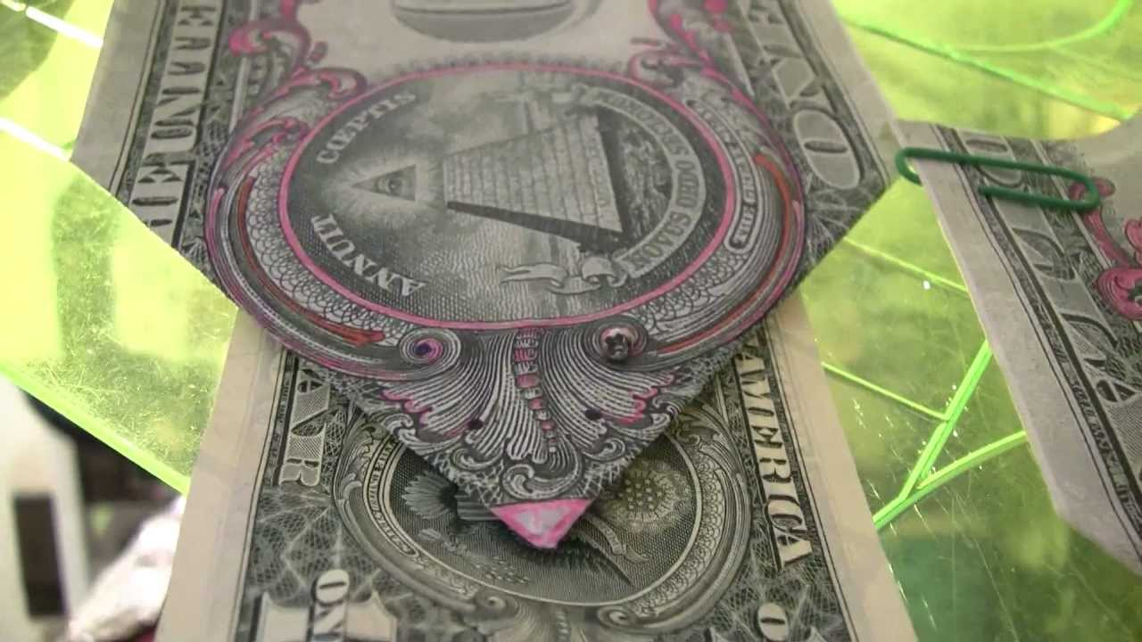 Papercraft $1DOLLAR BILL SECRET Fazi-Gami Origami Yale SKULL &BONES 322 & $10,000 says UCant Prove Me Wrong
