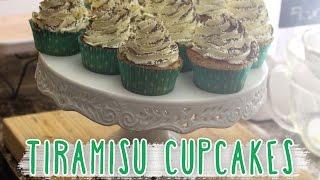Tiramisu Cupcakes - With Mascarpone Whipped Frosting