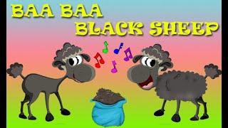 BAA BAA Black Sheep. Nursery Rhymes Children Songs
