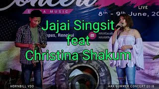 Don't cry Joni (cover) Live by Jajai Singsit & Christina Shakum | Hornbill Cable Network