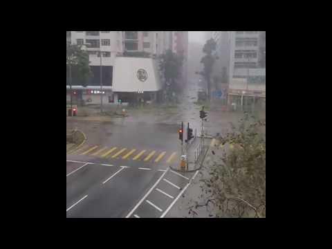 Typhoon Hong Kong, Well the worst is behind! 🌀 #hongkong #travel #typhoon #Mangkhut