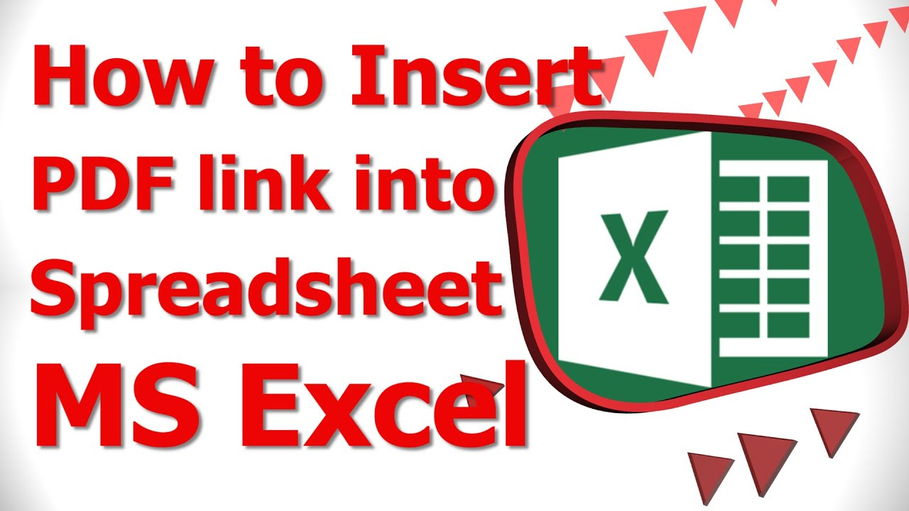 How To Insert Link Into Spreadsheet Ms Excel