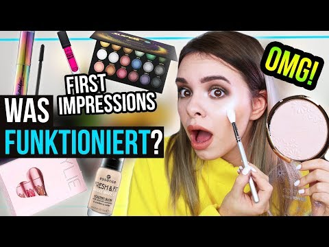 FULL FACE of FIRST IMPRESSIONS - Makeup testen - Kylie, Zoeva, UD, essence & mehr! #GLOWvember