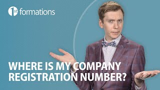 Where can I find my Company Registration Number (CRN)?