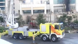 عملية اطفاء حريق ابراج بحيرات الجميرا 6:30 صباحا(2)