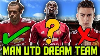 MANCHESTER UNITED Predicted Lineup 2018 With Potential TRANSFERS ft Sandro Bale Dybala