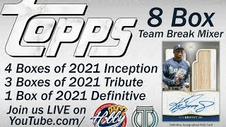 2021 Topps DEFINITIVE/TRIBUTE (8 Box) TEAM BREAK #7  eBay 05/15/21