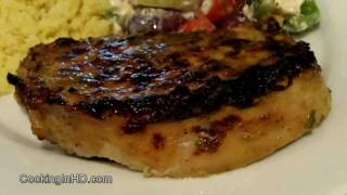 Grilled Pork Loin Chops with Herb and Lime Marinade