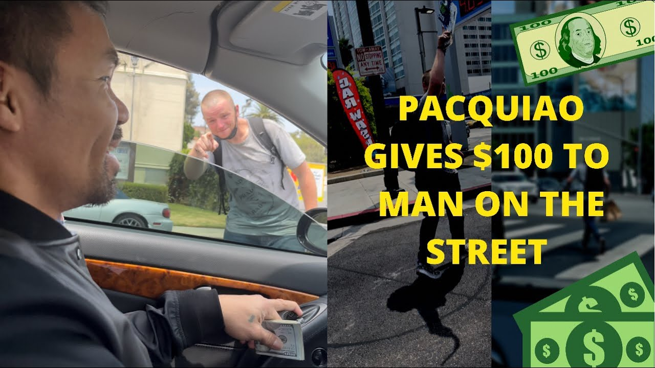 MANNY PACQUIAO Gives $100 To Guy On The Street!