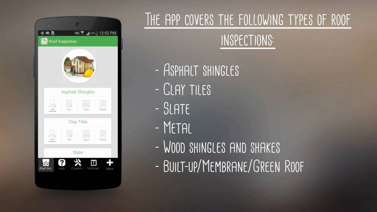 Roof Inspection App Youtube