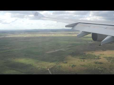 Emirates landing at Harare International Airport - Zimbabwe