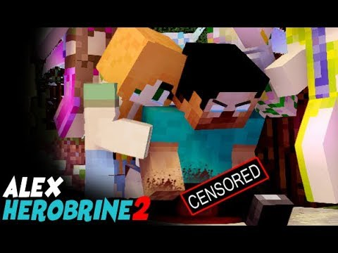 MONSTER SCHOOL : Herobrine and Alex Life Part 2 (Save Enderman) - Best Minecraft Animation