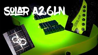 Solar A2.6LN guitar review